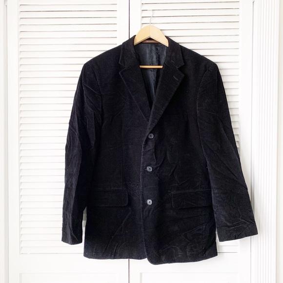 Tasso Elba Black Corduroy Sport Coat NWOT